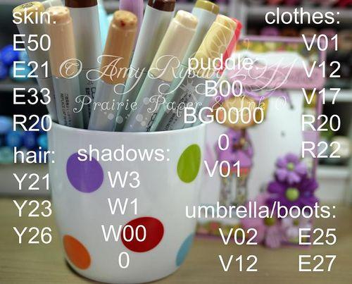 CCD Rain Lilliput UTW Card Copics by AmyR