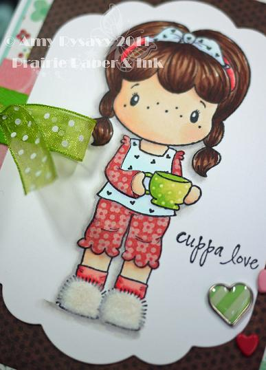 CCD SP Coffee Birgitta cuppa love card Closeup by AmyR