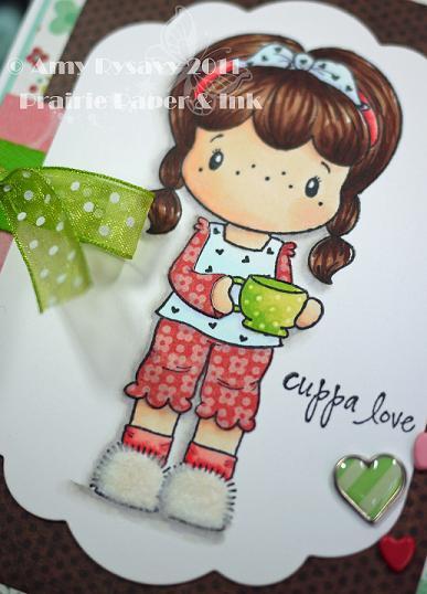 CCD SP Coffee Birgitta cuppa love card Closeup by AmyR