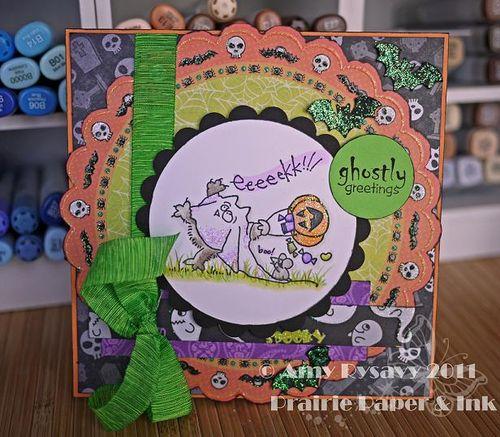 St Fluffles Ghostie Card by AmyR