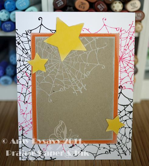 Butterfly Halloween Card Inside by AmyR