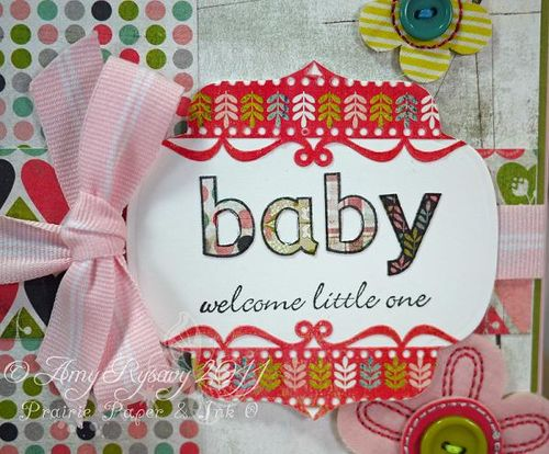 AmyR TB Baby Square Card Closeup by AmyR