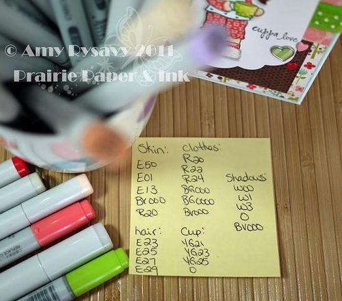 CCD SP Coffee Birgitta cuppa love card Copics by AmyR