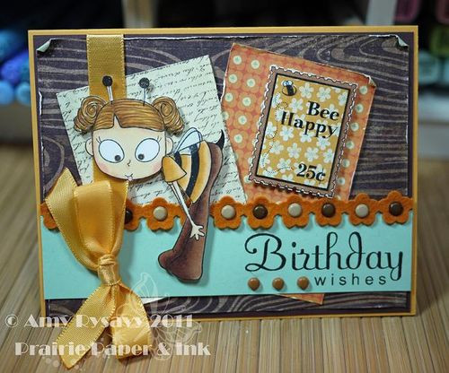 CCD LL Bee Bday Wishes Card by AmyR
