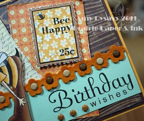 CCD LL Bee Bday Wishes Card Second Closeup by AmyR