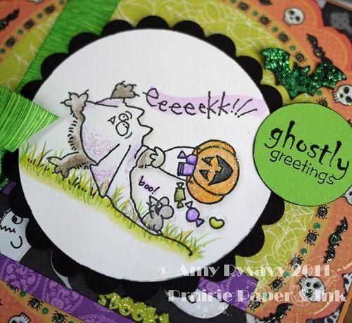 St Fluffles Ghostie Card Closeup by AmyR