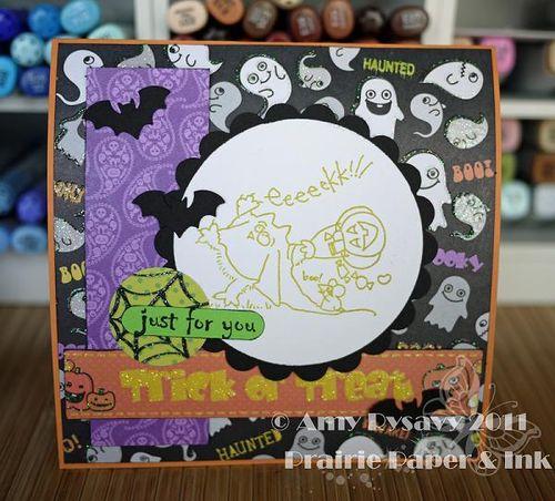 St Fluffles Ghostie Card Inside by AmyR