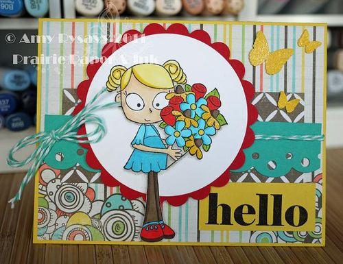 CCD LL Hello Card by AmyR