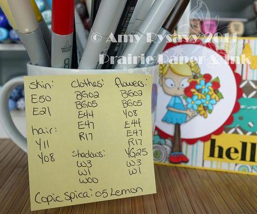 CCD LL Hello Card Copics by AmyR