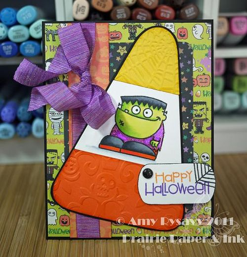 PS Hweenies Candy Corn Card by AmyR