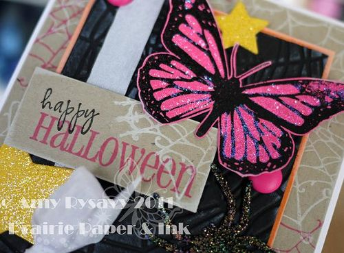 Butterfly Halloween Card Closeup by AmyR