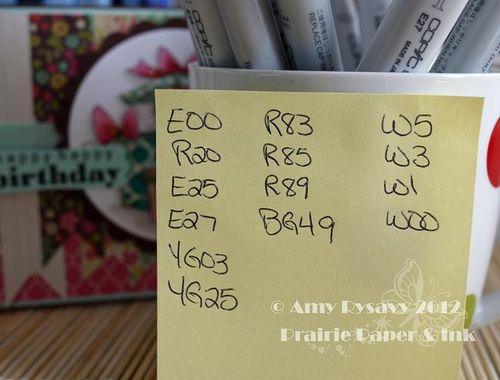 Birthday Card 1 Copics by AmyR