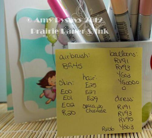 Birthday Card 5 Copics by AmyR