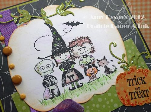 Halloween Card 8 Closeup by AmyR