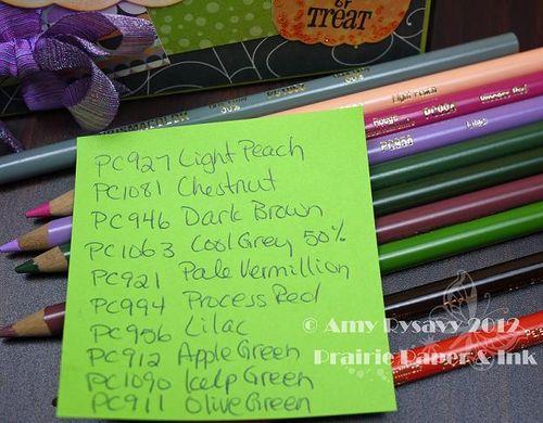 Halloween Card 8 Prisma Pencils by AmyR