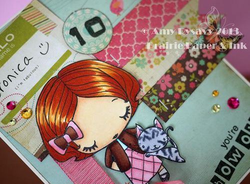 Veronica 10 Bday Card Closeup by AmyR