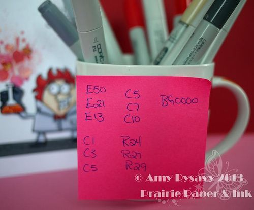 PS Great Chem Vtine Card Copics by AmyR