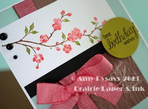 Jenn Cherry Blossom Bday Card Closeup by AmyR