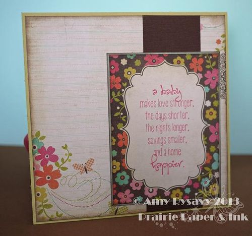 Kaylee Baby Card Inside by AmyR