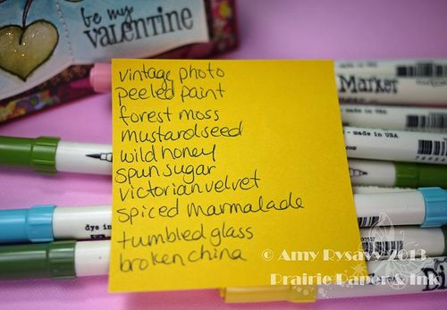 SN Love Birds Vtine Card Markers by AmyR
