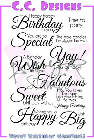 AmyR Great Birthday Greetings