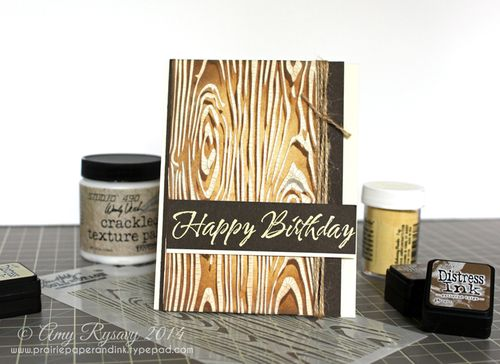 Woodgrain BDay Card By AmyR