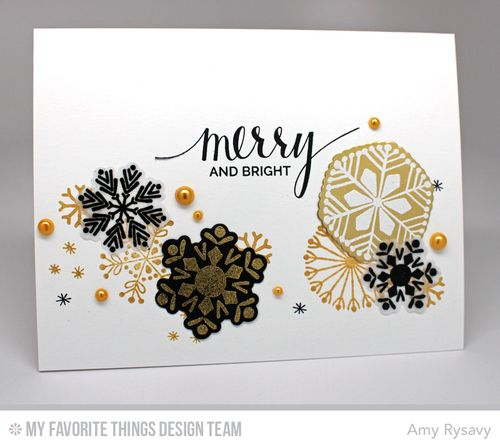 Snowflake Card Quartet Card 3 by AmyR