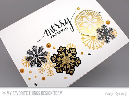 Snowflake Card Quartet Card 3 Closeup by AmyR