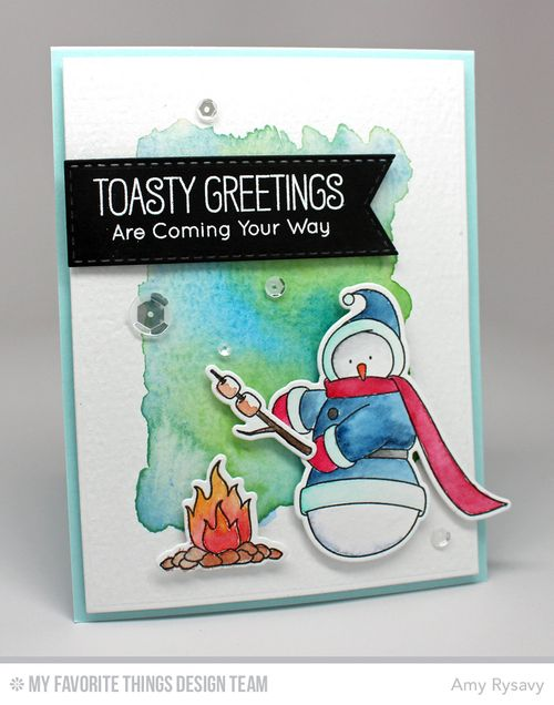 MFT Snowman Card by AmyR