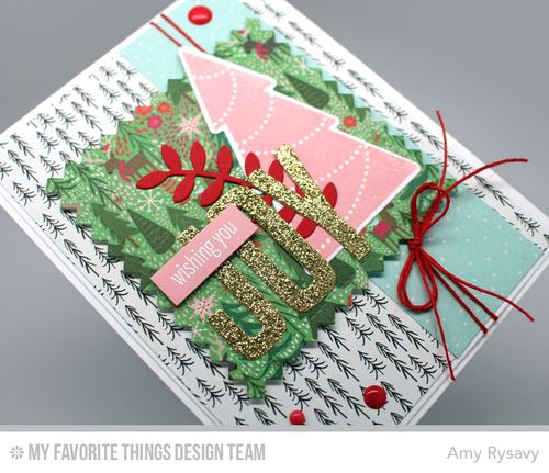 MFT Wishing You Joy Card Closeup by AmyR