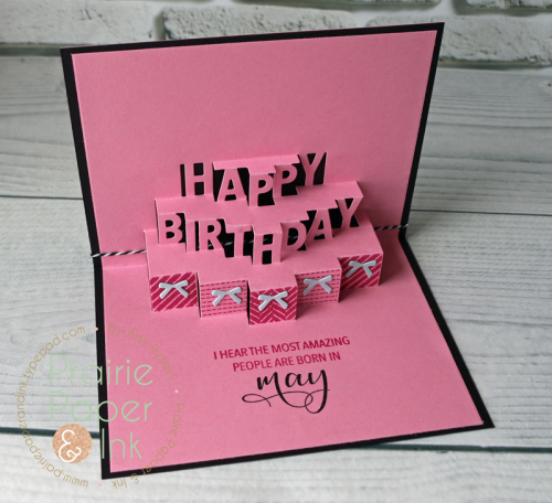 Prairie Paper Ink Concord 9th Happy Birthday PopUp Card – Happy Birthday Pop Up Cards