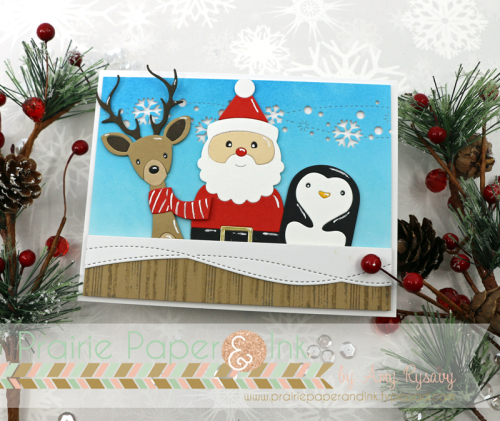 prairie paper ink sss picture book santa friends card amyr