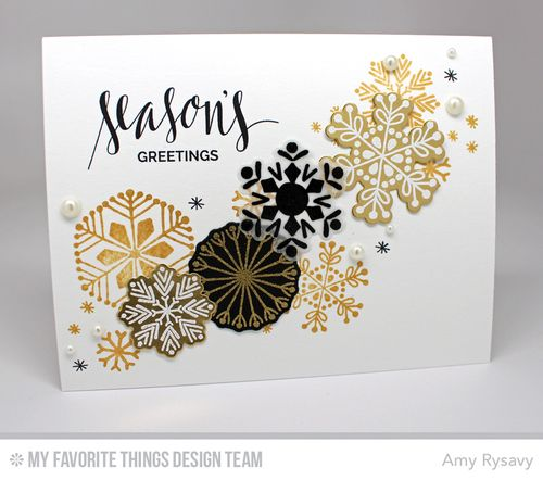 Snowflake Card Quartet Card 4 by AmyR