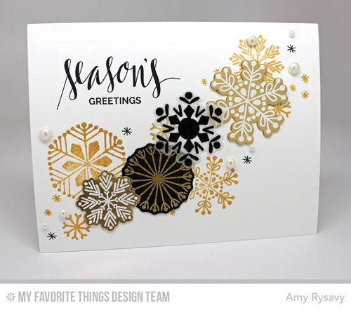 Snowflake Card Quartet Card 4 by AmyR