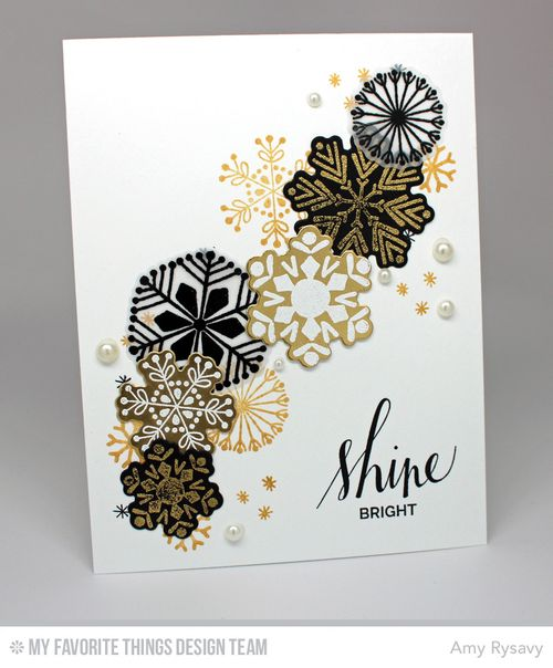 Snowflake Card Quartet Card 1 by AmyR