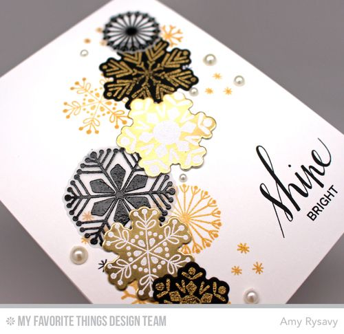 Snowflake Card Quartet Card 1Closeup by AmyR