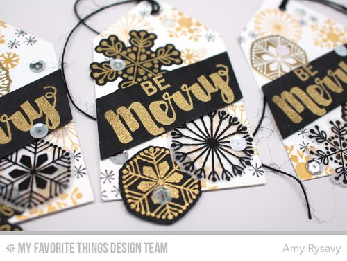 MFT Be Merry Tags Closeup by AmyR