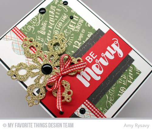 MFT BeMerry Snowflake Card Closeup by AmyR