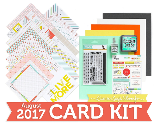 Happy Friday!! Simon Says Stampu0027s August Card Kit Was Just Revealed Today    And Mine JUST Arrived So I Was Able To Get My Unboxing Video Filmed And Up  For ...