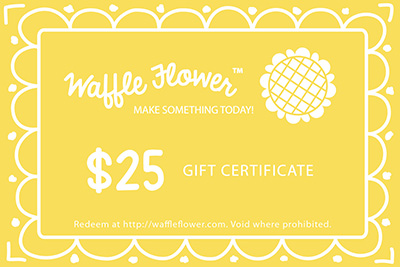 Waffle Flower Store Gift Certificate 25