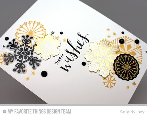 Snowflake Card Quartet Card 2 Closeup by AmyR