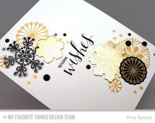 Snowflake Card Quartet Card 2 Closeup by AmyR