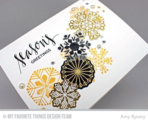 Snowflake Card Quartet Card 4 Closeup by AmyR