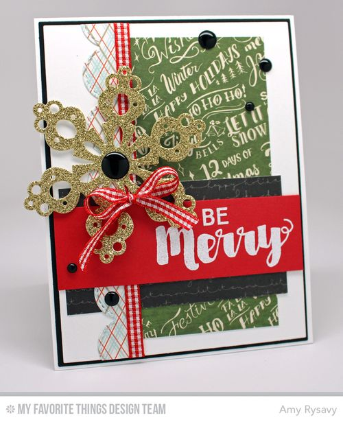 MFT BeMerry Snowflake Card by AmyR