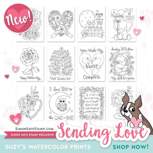 Suzy's Watercolor Prints Sending Love-01