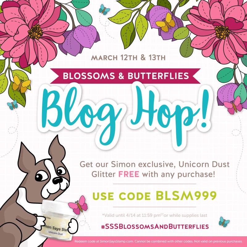 Blossoms & Butterflies Blog Hop Banner